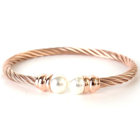 Glamoured Beauty Bracelet - Rose Gold