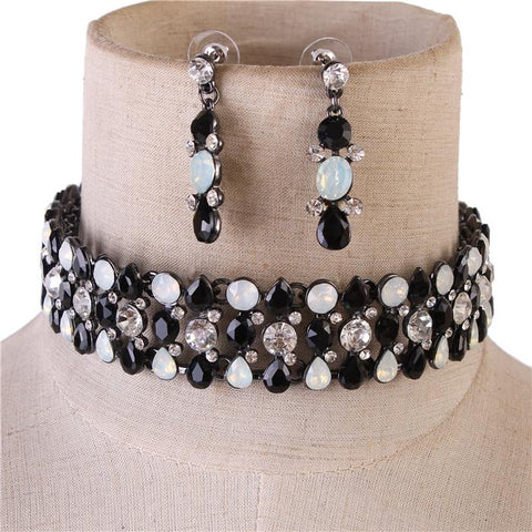 Stone Glory Choker Set - Black