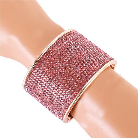To Infinity & Bling Cuff Bracelet - Rose