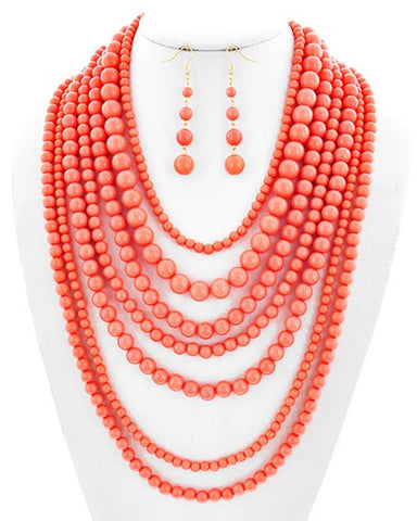 Peachy Layers Necklace Set