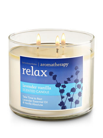 Lavender Vanilla Relax 3 Wick Scented Candle