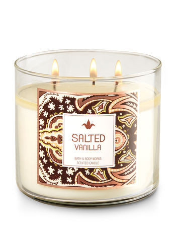 Salted Vanilla 3 Wick Scented Candle