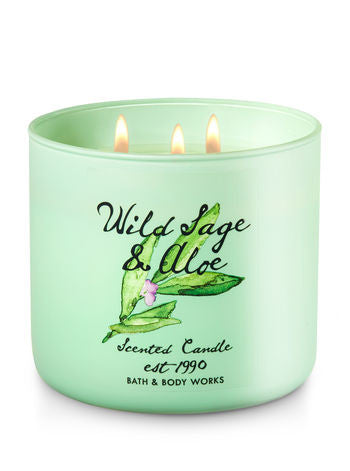 Wild Sage & Aloe 3 Wick Scented Candle