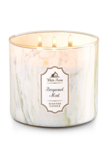 Bergamot Mint 3 Wick Scented Candle