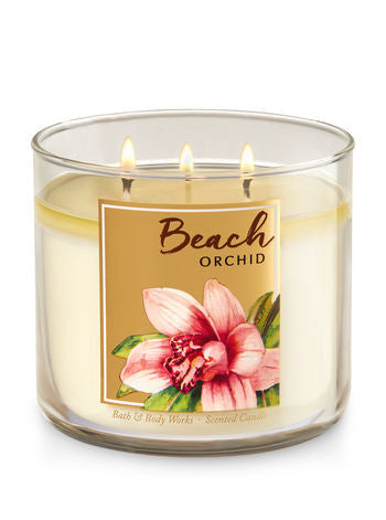 Beach Orchid 3 Wick Scented Candle