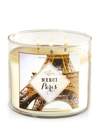 Merci Paris 3 Wick Scented Candle