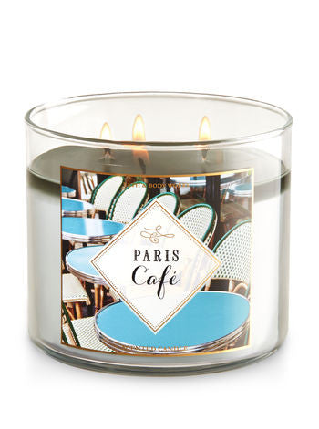 Paris Cafe 3 Wick Scented Candle
