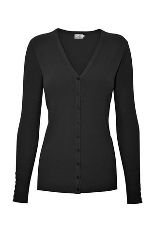 PLUS Black V Neck Cardigan