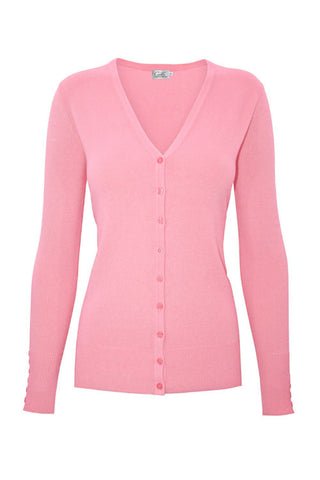 PLUS Baby Pink V Neck Cardigan