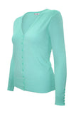 PLUS Mint V Neck Cardigan