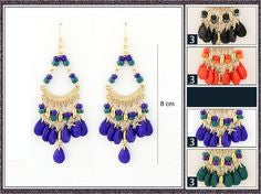 Beaded Glory Chandelier Earrings