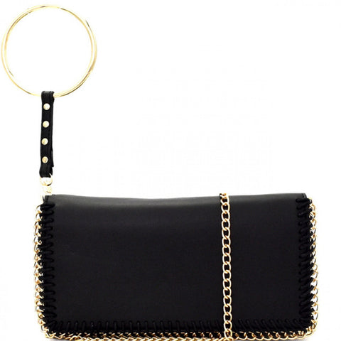 On The Town Clutch - Black