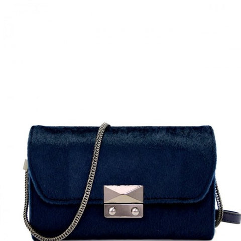 Luxe Life Clutch - Navy