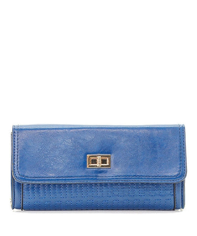 Fold and Drop Clutch - Blue
