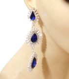 Royalty Crystals Drop Earrings
