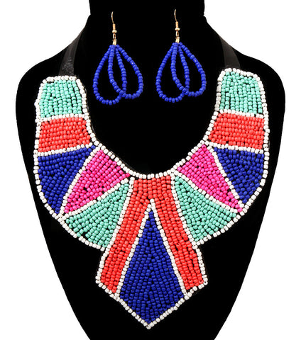 Beaded Tribe Bib Necklace