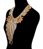 Swaying Jewels Bib Necklace Set