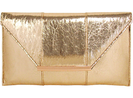 Foil Touch Clutch - Rose Gold