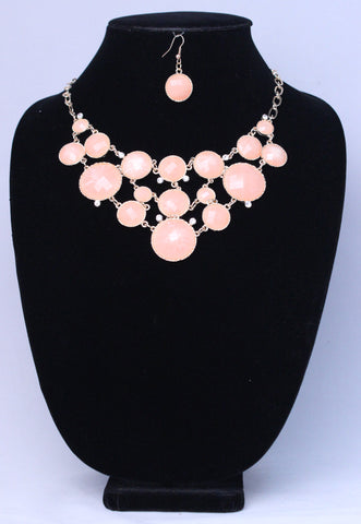 Peachy Dots Necklace Set