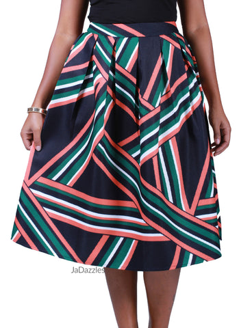 Abstracting  Lines Skirt