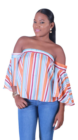 Tequila Sunrise Off The Shoulder Top