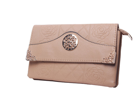Floral Etched Clutch