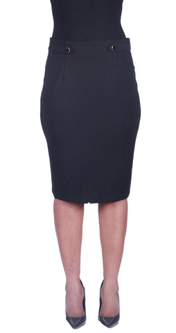 Side to Side Pencil Skirt - Black