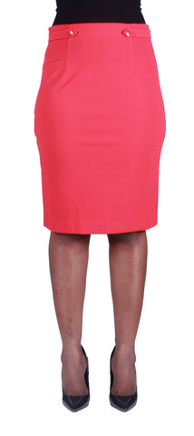 Side To Side Pencil Skirt - Red