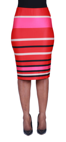 Striped To The Heart Pencil Skirt