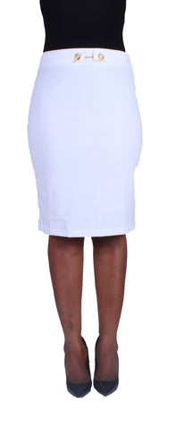 Locked In Beauty Pencil Skirt - White