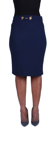 Locked In Beauty Pencil Skirt - Navy