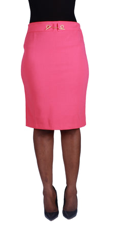 Locked In Beauty Pencil Skirt - Coral
