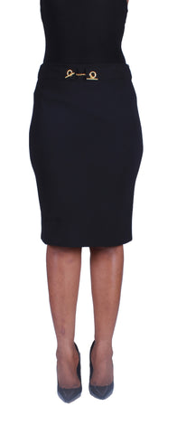 Locked In Beauty Pencil Skirt - Black