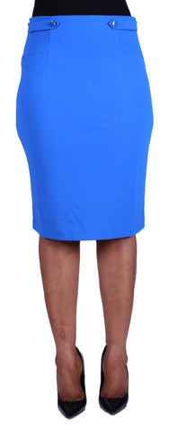 Side To Side Pencil Skirt - Royal Blue
