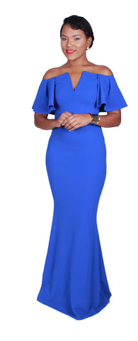 Blue Thunder Maxi Dress