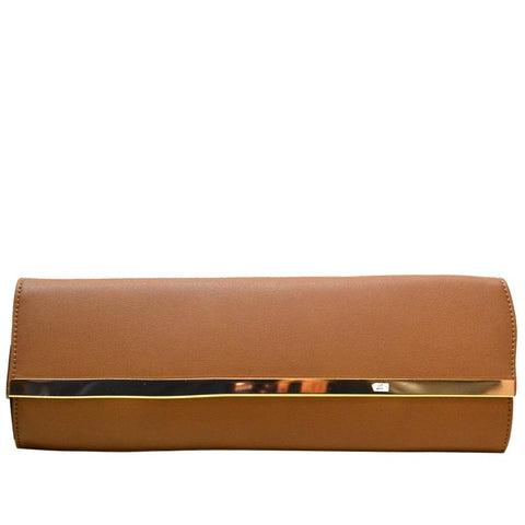 Classic Style Clutch- Camel