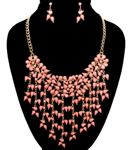 Dabbling Colors Necklace Set - Pink