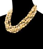Beaded Gradients Necklace Set - Ivory