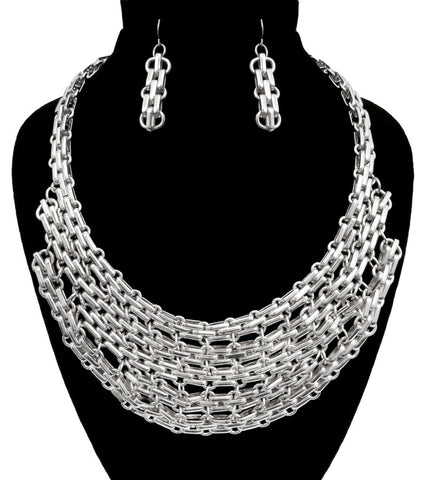 Biker Chic Necklace Set