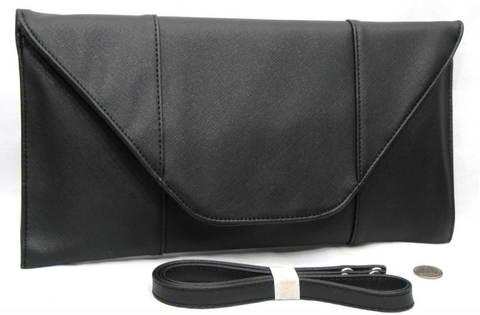 Black Shimmer Envelope Clutch