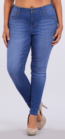 PLUS Back 2 Basics Pants - Blue Lagoon Wash