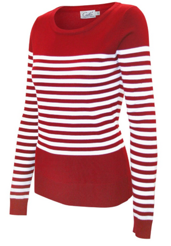 Long Sleeve Pull Over - Red