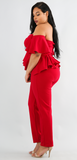PLUS Ruffle Sweetheart Jumpsuit