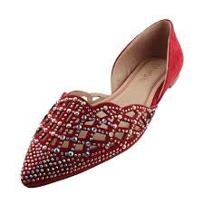 Studded Intentions Flats - Red