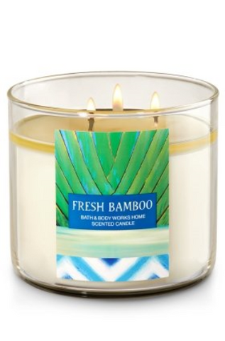 Fresh Bamboo 3 Wick Scented Candle
