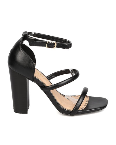 Blocked Out Heels - Black