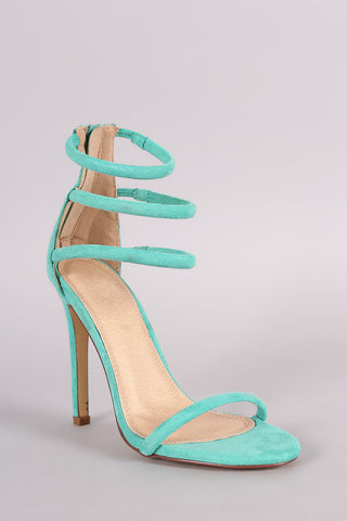Simply Strapped Heels - Mint
