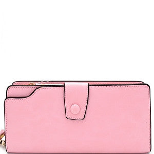 Haile Buttoned Wristlet - Pink