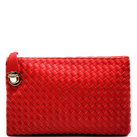 Woven Forever Clutch - Red