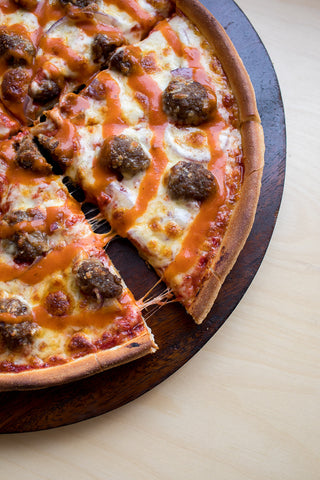 BBQ Meat Balls Pizza